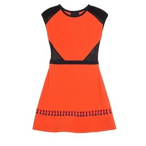 Cynthia Rowley NWT orange crepe dress
